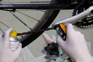 Fahrradkette schmieren