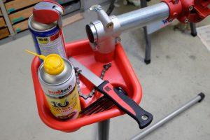 Fahrrad Montageständer Werkzeugablage