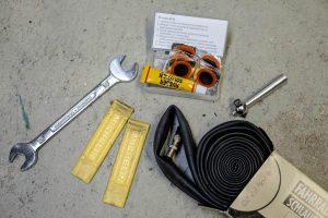 Werkzeug zum Fahrradreifen flicken
